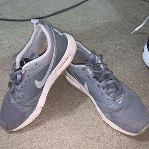 Gray Nike air maxes